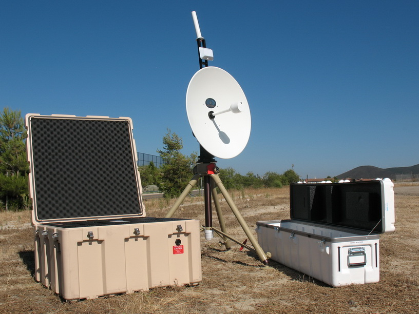 Southwest Antennas Products on UAV Tracking Pedestal