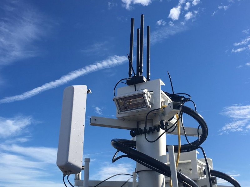Southwest Antennas MIMO / MANET sector antenna used for military application with Silvus radio system