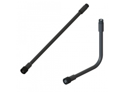 """RF Coaxial Gooseneck Assembly, 15.0"""" Length, 0.47"""" OD, Rotating Type-N(m) to TNC(m) RF Connectors"""