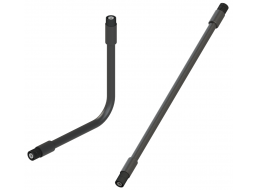 "RF Coaxial Gooseneck Assembly, 15.0"" Length, 0.47"" OD, TNC(m) to TNC(m) RF Connectors"