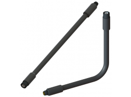 """RF Coaxial Gooseneck Assembly, 11.0"""" Length, 0.47"""" OD, TNC(m) Non-Rotating to TNC(f) RF Connectors"""