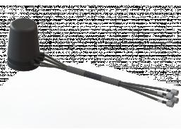 4X4 MIMO Omni Antenna, 4.4 - 5.0 GHz, 3.0 dBi, 4-Input Quad 45° Slant Polarized