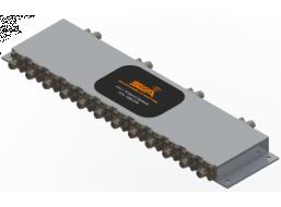 L/S/C Band Triplexer Bank, Quad Version, 1.75 - 1.85 GHz, 2.2 - 2.29 GHz, 4.4 - 4.9 GHz
