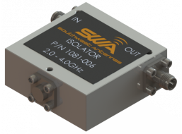 Coax Isolator, 2.0 - 4.0 GHz, 20 dB Isolation, 250 Watts Peak Power