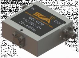 Coax Isolator, 2.0 - 4.0 GHz, 20 dB Isolation, 250 Watts Peak Power