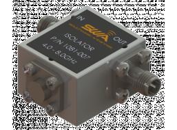 Coax Isolator, 4.0 - 8.0 GHz, 20 dB Isolation, 200 Watts Peak Power