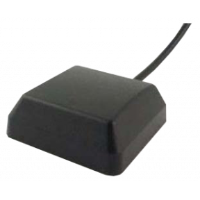 GPS L1 Active Patch Antenna, Magnetic Mount, 37 dBi Peak Active Gain, RP-SMA(m)