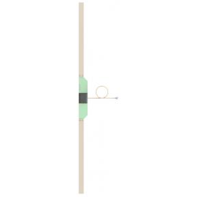 Omni Antenna, Half Wave Dipole, 161.975 - 162.025 MHz, 1.15 dBi Gain