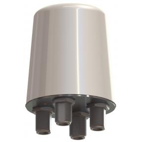 4X4 Omni MIMO Antenna, Quad Input 45° Slant Polarized, 4.4 - 5.0 GHz, 2.6 dBi