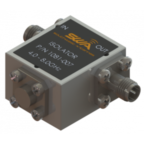 Coax Isolator, 4.0 - 8.0 GHz, 20 dB Isolation, 200 Watts Peak Power