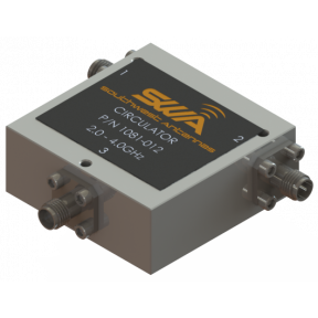 Coax Circulator, 2.0 - 4.0 GHz, 20 dB Isolation, 250 Watts Peak Power