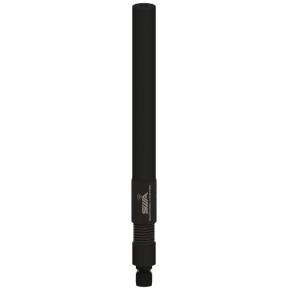 Omni Antenna, Full Wave Dipole 1.9 - 2.5 GHz, 3.7 dBi Gain, Spring Base, Black Chrome RP-TNC(m) RF Connector