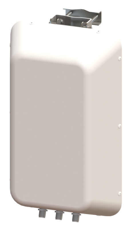 3X3 MIMO 120° Sector Panel Antenna, Slant L/R and Vertical Polarized, 4.4 - 5.0 GHz, 12 dBi Gain