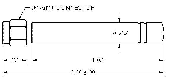 Omni Cellular Gsm Quad Band Omni Antenna 850 900 1800