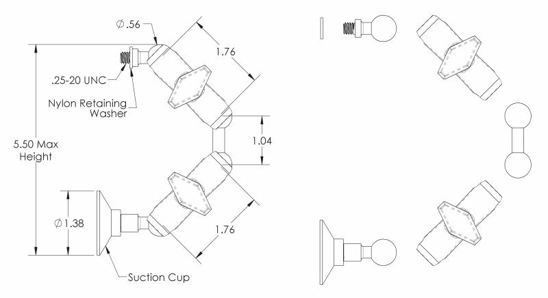 Window Mounting Kit, Suction Cup Mount for Patch and Panel