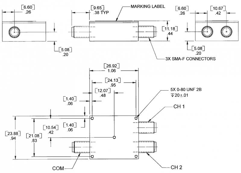 Dual Band Diplexer  2 2 - 2 5 Ghz  U0026 4 4