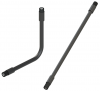 "RF Coaxial Gooseneck Assembly, 15.0"" Length, 0.47"" OD, TNC(m) to TNC(m) RF Connectors"