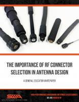 The Importance of RF Connector Selection in Antenna Design Whitepaper